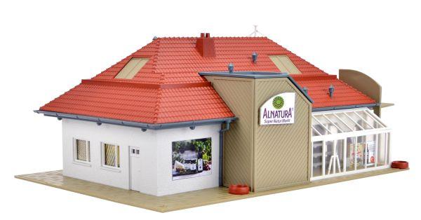 Vollmer-43950-H0-Supermarche-Alnatura-Serie-Bio-S-039-Epuiser-Echelle-H0