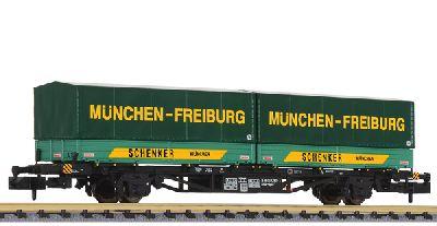 "m.blauer Plane /""Graffiti/"" DB AG Liliput 265779 Spur N 6-achs.Transportwg"