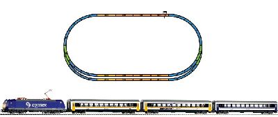 57180 Piko - Startset Connex BR185 + Perswg. - Spur H0