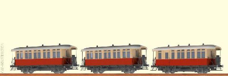 45637 H0 Personenwagen-Set Bu/BPwu Lokalbahn   Zoom